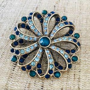Shades Of Blue Brooch